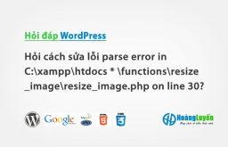 Hỏi cách sửa lỗi parse error in C:\xampp\htdocs *…?