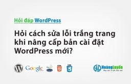 Hỏi cách sửa lỗi trắng trang khi nâng cấp WordPress?