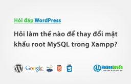 Hỏi làm thế nào để thay đổi mật khẩu root MySQL trong Xampp?