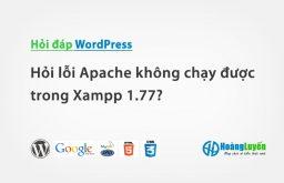 Hỏi cách sửa lỗi Apache không chạy được trong Xampp 1.77?