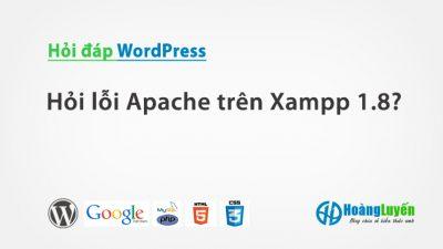 Hỏi lỗi Apache trên Xampp 1.8?