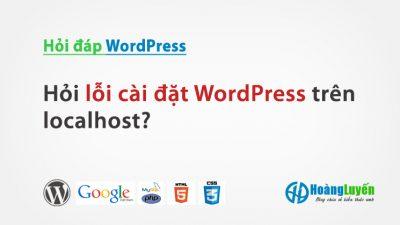 Hỏi lỗi cài đặt WordPress trên localhost Appserv 2.6.0?