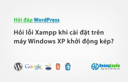 Hỏi lỗi Xampp khi cài đặt trên máy Windows XP khởi động kép?