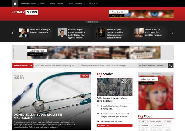 Themes WordPress Softnep New - Công ty