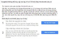 Đừng chặn CSS của bạn và các tập tin JS