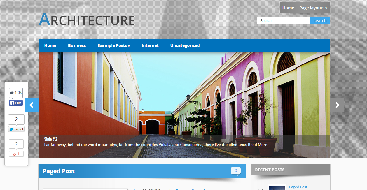 Themes WordPress responsive Architecture