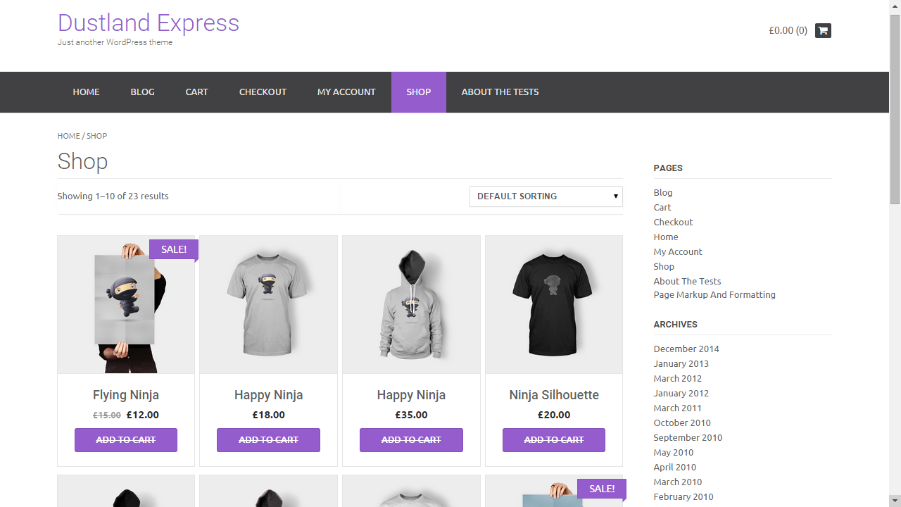 Themes WordPress responsive Dustland Express