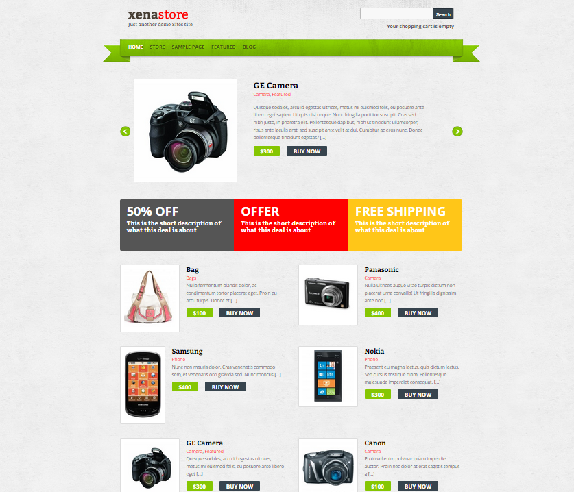Themes WordPress responsive Xenastore