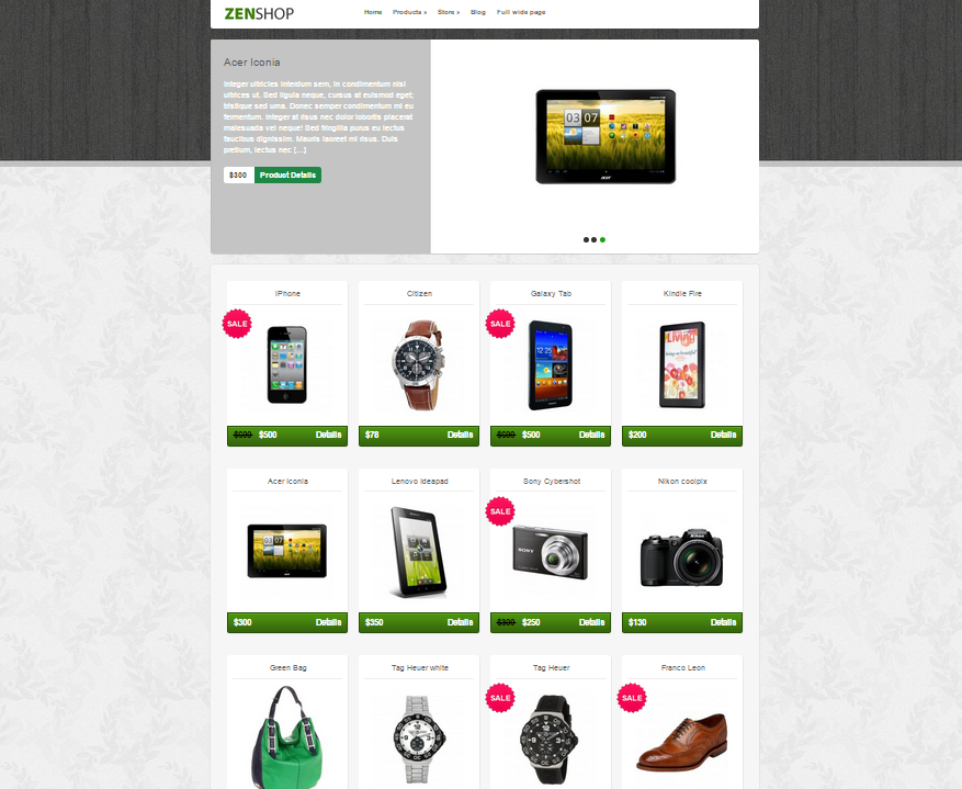 Themes WordPress responsive Zenshop