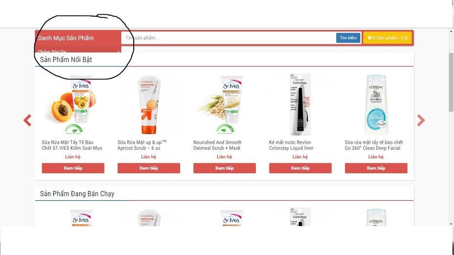Hỏi đáp: Lỗi menu danh mục sản phẩm không hiển thị