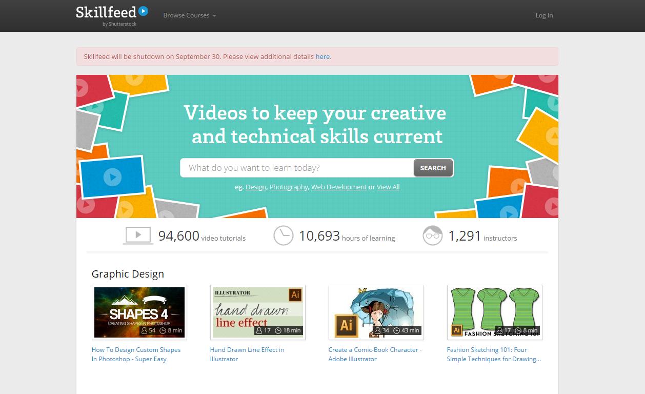 Skillfeed.com đóng cửa vào ngày 30/9