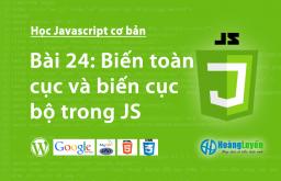 Biến toàn cục và biến cục bộ trong Javascript