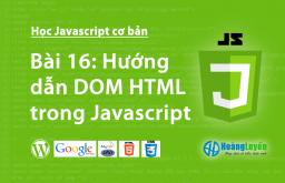 Hướng dẫn DOM HTML trong Javascript