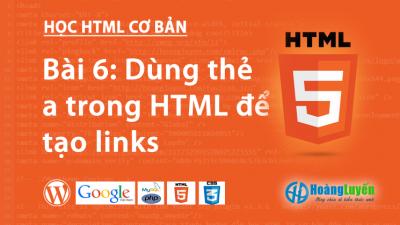 Thẻ liên kết a trong HTML