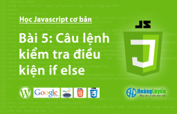 Câu lệnh kiểm tra điều kiện if else trong Javascript