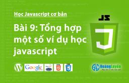 Tổng hợp một số ví dụ học Javascript căn bản