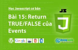 Return TRUE/FALSE của Events trong Javascript