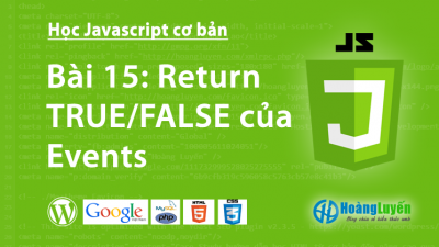 Return TRUE/FALSE của Events trong Javascript
