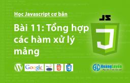 Tổng hợp các hàm xử lý mảng trong Javascript
