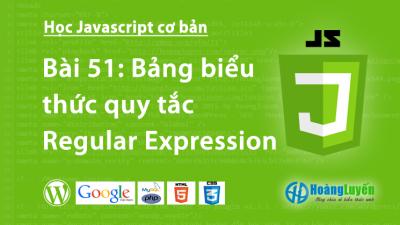 Bảng biểu thức quy tắc Regular Expression trong Javascript