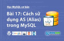 Cách sử dụng AS (Alias) trong MySQL