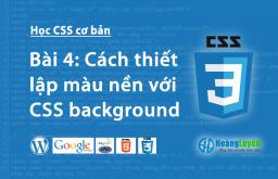 Thuộc tính background trong CSS