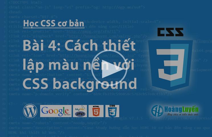 Video thuộc tính background trong CSS