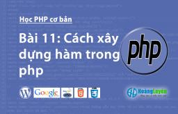 Cách xây dựng hàm trong php