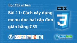 Hướng dẫn làm menu dọc hai cấp với CSS