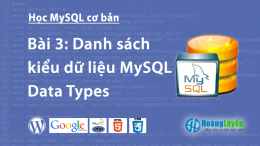 Danh sách kiểu dữ liệu MySQL Data Types