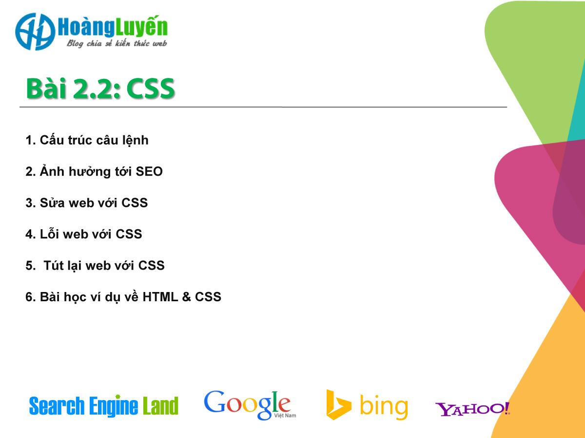 Bài 2.1 Học CSS để tự tay tối ưu website chuẩn SEO