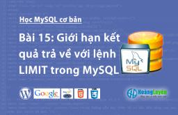 Giới hạn kết quả trả về với lệnh LIMIT trong MySQL