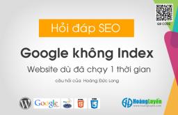Hỏi tại sao Google không Index website?