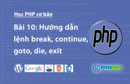 Hướng dẫn lệnh break, continue, goto, die, exit trong php