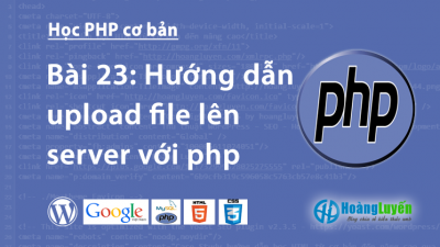 Hướng dẫn upload file lên server với php