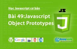 Javascript Object Prototypes