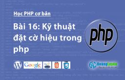 Kỹ thuật đặt cờ hiệu trong php