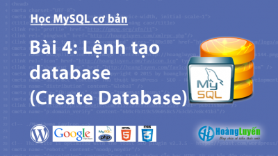 Lệnh tạo database (Create Database) trong MySQL