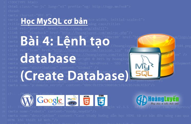 Lệnh tạo database (Create Database) trong MySQL