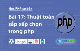 Thuật toán sắp xếp chọn trong php