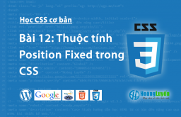 Thuộc tính Position:fixed trong CSS