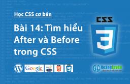 Thuộc tính After và Before trong CSS