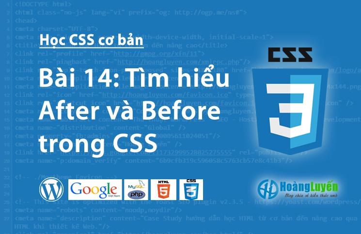 Tìm hiểu After và Before trong CSS