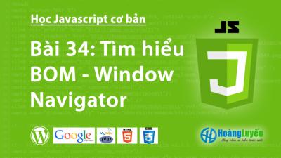 Tìm hiểu BOM – Window Navigator trong Javascript