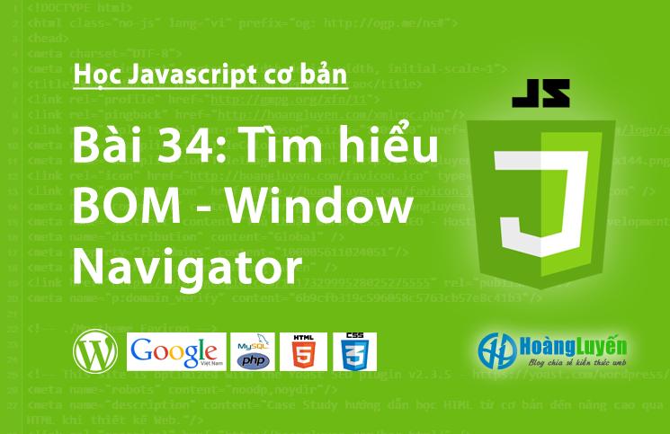 Tìm hiểu BOM - Window Navigator trong Javascript
