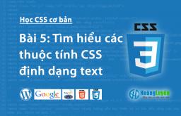 Thuộc tính định dạng văn bản trong CSS