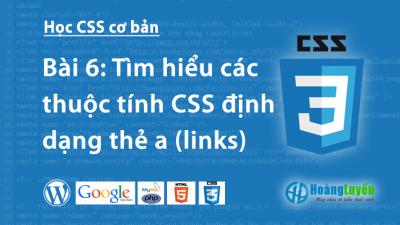 Thuộc tính thẻ a trong CSS