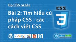 Cú pháp CSS