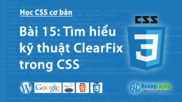 Thuộc tính Clear:both,left,right trong CSS