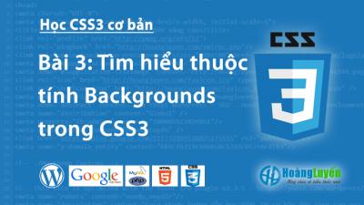 Tìm hiểu thuộc tính Backgrounds trong CSS3